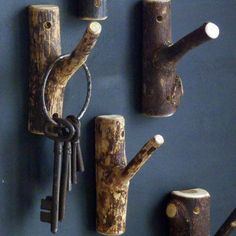 Natural Twig Clothes Hook