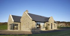 Traditional exterior belying a modern interior - Cygnum Timber Frame Modern Bungalow House, Rural House, Modern Bungalow Exterior, Open House Plans, Dream House Plans, Dormer House, Dormer Bungalow, House Designs Ireland, Cottage Extension