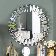 How about adorning your office or home with this: Modern Round Wall... Check it out here! http://momplusbusiness.com/products/modern-round-wall-mirror?utm_campaign=social_autopilot&utm_source=pin&utm_medium=pin
