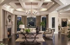 Robert Lucke Group Homearama model Bordeaux (5) Pinned because I love the neutral colors!