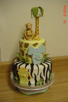 Safari Baby Shower Cake                                                                                                                        Safari Baby Shower Cake             by        Lisas Sweet Smiles      on        Flickr