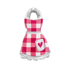 """Origami Owl RED GINGHAM APRON CHARM  Nothing says, """"Welcome home!"""" more than the sight of an apron hanging on a kitchen hook! Our Seasonal Exclusive Red Gingham Apron Charm combines a fun, vintage design with memories of good times spent cooking in the kitchen with loved ones! Create a darling baking-themed or weekend breakfast Living Locket® look by pairing this with our Silver Wisk Charm and our Seasonal Exclusive Blueberry Muffin Charm, Eggs & Bacon Charm and Sunday Newspaper Charm."""
