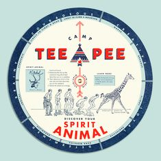 Camp TeePee Wedding - spinning dial shows you your spirit animal