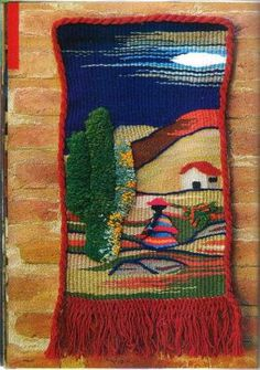 Weaving Textiles, Weaving Patterns, Tapestry Weaving, Loom Weaving, Freeform Crochet, Crochet Art, Weaving Projects, Crochet Projects, Pom Pom Bag Charm