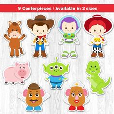 Toy Story Centerpiece Digital File INSTANT DOWNLOAD  * This is printable file and no physical items will be mailed to you.   ----------------------- ★★ Package Included ★★-----------------------------------  You will received * 1 PDF file of 9 Characters neatly layout in 8.5 x 11 sheet separately (High Resolution) * 1 PDF file of 9 Characters neatly layout in 5 x 7 sheet separately (High Resolution)   --------------------★★ INSTANT DOWNLOAD ★★--------------------  Once your payment has been…