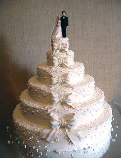 Classic wedding cake with a modern twist