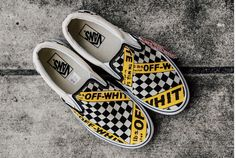 AMAC Customs CheckerBoard Slip-On Classic Yellow Black White Womens Shoes Vans USA.AMAC Customs CheckerBoard Slip-On Classic Yellow Black White Womens Shoes Sharing is caring, don't forget to share ! Sneakers Vans, Tenis Vans, Converse, Women's Shoes, Me Too Shoes, Golf Shoes, Vans Shoes Fashion, Gucci Shoes, Dance Shoes