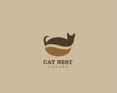 Logo Design - Cat Nest Coffee