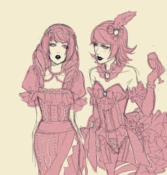 Victorian style! Rose and Roxy