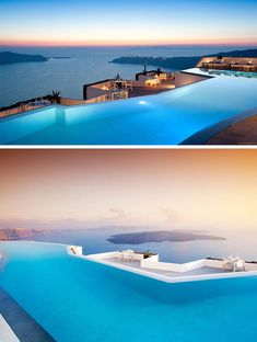 10 Incredible Hotel Rooftops From Around The World // Gaze out at the Mediterranean Sea while floating in the infinity pool of the Grace Hotel in Santorini, Greece.