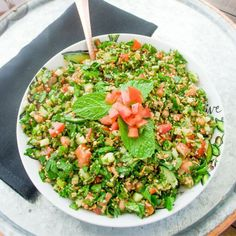 Wheat Berry Tabbouleh Salad Recipe on Food52 #wheatberry #wheat #wheatlovers #wheatgrass #wheatberries #farming #healthy #homegrown #Farm #wheatrecipes #food #foodie #healthylifestyle #healthyeating Veg Recipes, Healthy Salad Recipes, Side Dish Recipes, Whole Food Recipes, Vegetarian Recipes, Wheat Berry Recipes, Wheat Berry Salad, Tabbouleh Recipe, Grain Foods