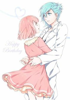 Pixiv Id Uta no☆prince-sama♪, Nanami Haruka, Mikaze Ai, Pink Dress, Arm Around Waist Cute Anime Pics, Cute Anime Couples, Manga Love, Anime Love, Manga Anime, Anime Art, Anime Drawing Styles, Black Butler Anime, Pokemon