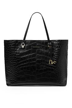 Large Ready To Go Croc Tote. Black Leather HandbagsBlack Leather Tote BagLeather  ... e42b039f34904