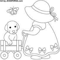 Afbeeldingsresultaat voor sue bonnet quilt pattern
