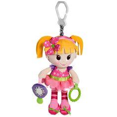 Boneca Aninha é um brinquedo excelente para berços e carrinhos e estimula os sentidos do bebê com suas diversas cores. Colorida e Graciosa, esta simpática bailarina tem texturas para o bebê brincar. O chocalho desenvolve a coordenação motora e estimula a audição. Espelho, formas e cores que estimulam os sentidos do bebê.