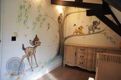Baby Room Themes, Baby Girl Nursery Themes, Baby Room Decor, Lion King Nursery, Bambi Baby, Baby Room Neutral, Disney Rooms, Kids Wall Decor, Nursery Inspiration