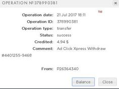 TRIPLER SYSTEM!! If you are a PASSIVE INCOME SEEKER, then AdClickXpress (Ad Click Xpress) is the best ONLINE OPPORTUNITY for you.I WORK FROM HOME less than 10 minutes and I manage to cover my LOW SALARY INCOME. Here is my Withdrawal Proof from AdClickXpress. I get paid daily and I can withdraw daily. Online income is possible with ACX, who is definitely paying. @AdClickXpress