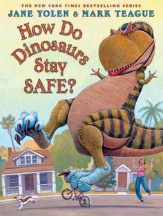 Friday, February 20, 2015. A young dinosaur takes precautions in order to stay safe throughout the day, both at home and at play.