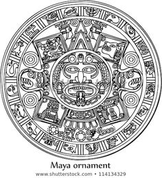Find Maya stock images in HD and millions of other royalty-free stock photos, illustrations and vectors in the Shutterstock collection. Aztec Symbols, Mayan Symbols, Celtic Symbols, Body Art Tattoos, Sleeve Tattoos, Aztec Tattoo Designs, Aztec Tribal Tattoos, Mayan Tattoos, Native Tattoos