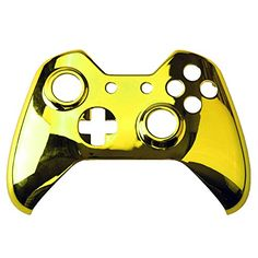 Gam3Gear Top Front Housing Shell Case Faceplate Replacement Parts for Xbox One Controller Chrome Gold * You can find more details by visiting the image link.Note:It is affiliate link to Amazon.