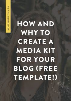 If you want to learn how to start a blog and make money, you will need a media kit for your brand. Here is tips for your media kit layout to monetize your blog. #melyssagriffin, #onlineentrepreneur, #creativebusiness, #bloggingideas, #howtostartablog, #blogging101, #bloggingforbeginners