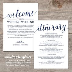 Wedding Welcome Bag Note Welcome Bag Letter Printable Wedding