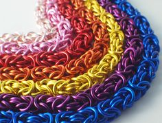 My First Byzantine Bracelet Kit Chainmaille in a RAINBOW of Colors by UnkamenSupplies