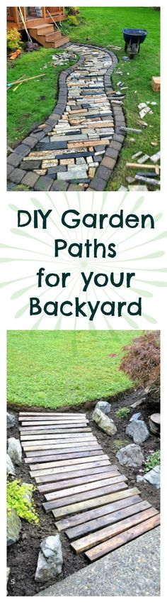 When it comes to backyard paths there are so many options: the standard brick and flagstone pathways, reclaimed wood pathways and concrete patio stones!