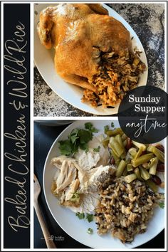 Simple Baked Chicken with Wild Rice Stuffing - Sunday Supper Anytime! Easy Baked Chicken, Chicken Recipes, Rice Stuffing, Dinner Ideas, Dinner Recipes, Recipe Club, Crusted Chicken, Wild Rice, Secret Recipe