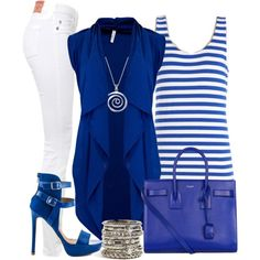 Casual Outfit Blue&White