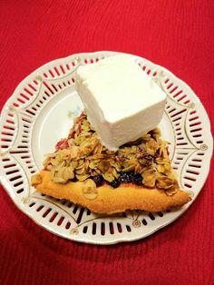 Päivi leipoo: Puolukka-kaurapiirakka