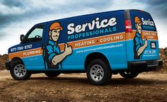 Truck wrap and fleet branding for Union, NJ-based HVAC and plumbing company.