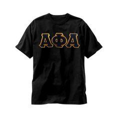 Alpha Phi Alpha 2 color applique t-shirt by LineupBoutique on Etsy