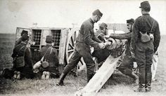 """The """"French 75"""" Model 1897 field gun had a very hi rate of fire. A well-trained crew could shoot 30 rounds per minute"""