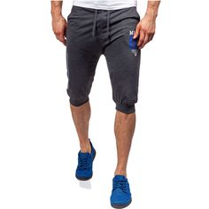 MarKyi Summer Casual Cotton Mens Jogger Shorts Slim Men 3 Color Bodybuilding Male Fitness Gyms Shorts For Workout