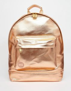 Image 1 of Mi-Pac Metallic Backpack in Rose Gold