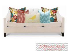 sofa accent pillows arrangement - Αναζήτηση Google