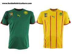 Cameroon 10/12 Puma football shirts | 10/11 Kits | Football Shirt Culture.com