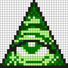 Illuminati Perler Bead Pattern / Bead Sprite