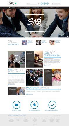 Le site internet du SNB (Syndicat National des Banques), claire et intuitif, regroupe des actualités économiques ou sociétales. Un espace adhérent donne accès, aux membres du réseau, à un contenu plus riche. Un module de newsletter offre une possibilité supplémentaire de communiquer et de générer du trafic  sur le site.