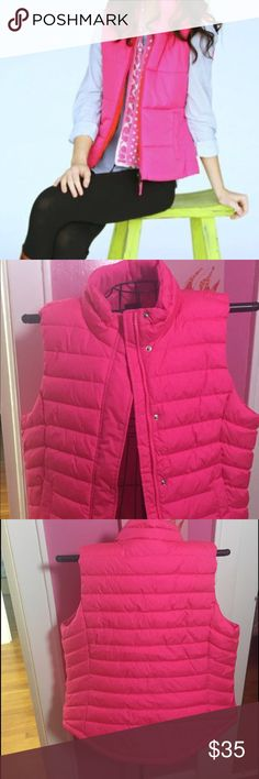 Gap hot neon pink puffer bubble winter vest Brand new with tags GAP Jackets & Coats Vests
