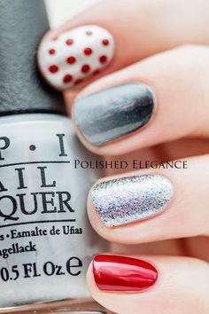 OPI - Fifty Shades Of Grey manicure nail art