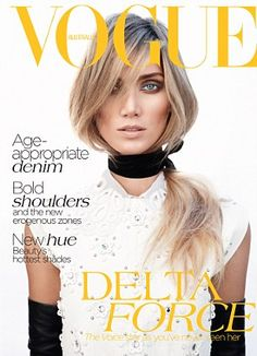 Cover star: Delta appears in the Vogue Australia July issue on sale June 6