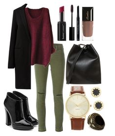 """""""Autumn's set"""" by celine-leconte ❤ liked on Polyvore featuring J Brand, Giuseppe Zanotti, Lanvin, 3.1 Phillip Lim, Butter London, Rouge Bunny Rouge, Christian Dior, Guerlain, Forever 21 and House of Harlow 1960"""