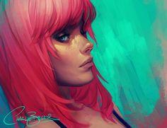 Paintable.cc | 50 Stunning Digital Painting Portraits: Charlie Bowater #digitalpainting #portrait #inspiration