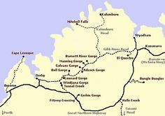 How To Get From Cairns To Port Douglas: The Great Barrier Reef Drive - The Gibb River Road runs from south of Derby to Wyndham Kimberly Australia, Australia Map, Western Australia, Australian Road Trip, Riverside House, Water Activities, Great Barrier Reef, Trip Planning, Traveling By Yourself