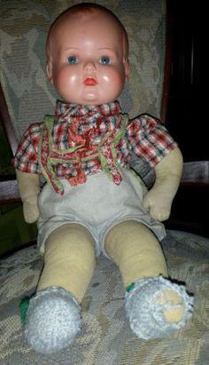 Schildkroet-Puppe-Antik-von-vor-1940-guter-Zustand