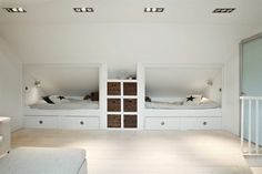 Very clever and nice looking children's recessed beds.