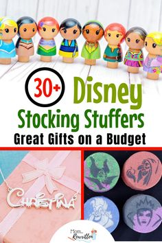 These budget-friendly Disney stocking stuffers add magic to the holidays without breaking the bank! Christmas stocking ideas for kids of all ages, babies to teens (and maybe a few things Mom will keep for herself!