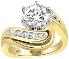 1.18 Carat Inga Diamond 14Kt Yellow Gold Engagement Ring